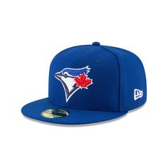 930a8b20ade The Toronto Blue Jays Authentic Collection Fitted cap features a team color  fabrication with an embroidered Blue Jays logo at the front panels and an  ...