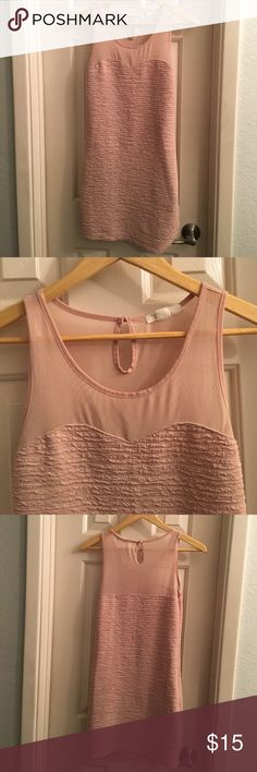 Pretty rose pink dress Sexy yet feminine and classy! Mesh upper area. Forever 21 Dresses Mini