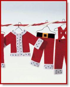 Felt Santa Wardrobe Ornaments