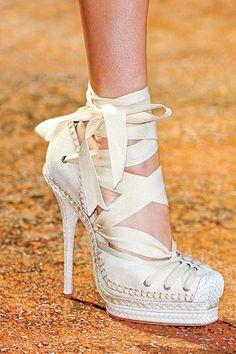 Spring's Must-Have Heels. Espadrille Christian Dior