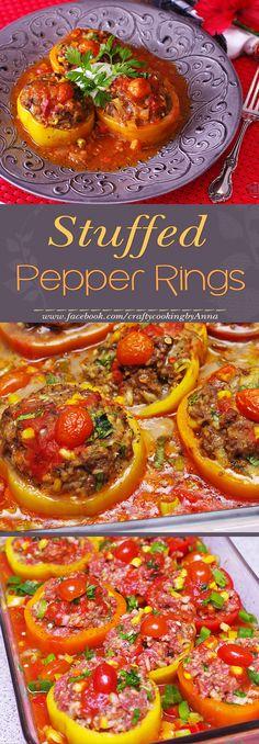 Stuffed Pepper Rings! #Easy #Delicious #Dinner
