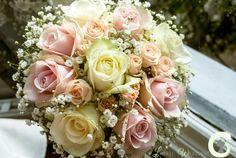 Roses and gypsophila wedding bouquet