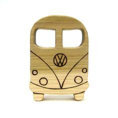 VW Bus Wooden Baby Teething Ring