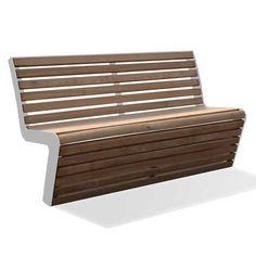 FalcoLinea bank; gemaakt van FSC-gecertificeerd hardhout en thermisch verzinkt staal (gepoedercoat).