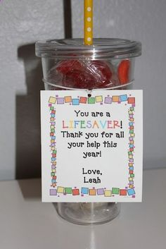 Cute and inexpensive gift idea for parent helpers OR you could change the last sentence to make it fittting for friends, neighbors, etc... that have come to your rescue.