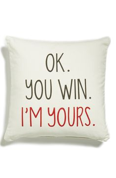 Love this adorable accent pillow for Valentine's Day decor.