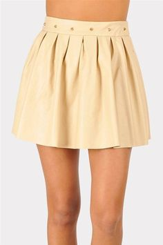 #Necessary Clothing       #Skirt                    #Bone #Leather #Skirt #Taupe                        Bad To The Bone Leather Skirt - Taupe                                         http://www.seapai.com/product.aspx?PID=9591