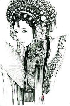 BW chinese girl