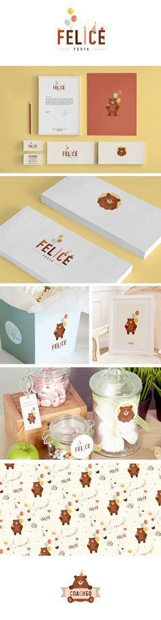 Meu coração sempre tende a layouts lúdicos *-*  Felice Festa on Branding Served. Who doesn't like a cute bear on product #packaging and #branding PD