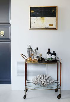 On my wish list...the perfect bar cart. Apartment 34 | Designer Files: {Rue Magazine Sneak Peek}