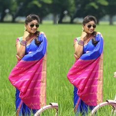 Saree Fashion, Saree Styles, Girls Wear, Print Patterns, Ethnic, Stylists, Sari, How To Wear, Women's Clothes
