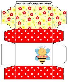 Abelhas e Flores - Kit Completo com molduras para convites, rótulos para guloseimas, lembrancinhas e imagens!
