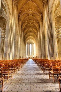 Grundtvigs kirke - Inside Grundtvigs Church in Copenhagen.