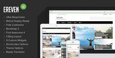 Ereven - Responsive Blog Magazine WordPress Theme - http://fitwpthemes.com/ereven-responsive-blog-magazine-wordpress-theme/