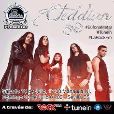 @EuforiaMetal Radio @LaRockFM @tunein @realradio