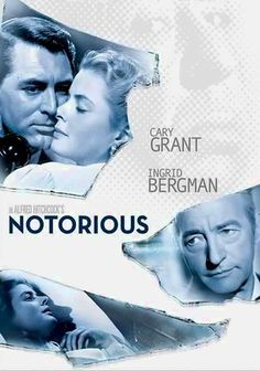Notorious (1946) Government agent T.R. Devlin (Cary Grant) recruits American beauty Alicia Huberman (Ingrid Bergman) to spy on her father's influential Nazi friends in this top-notch Alfred Hitchcock espionage thriller that builds to an incredibly suspenseful climax. As part of her cover, Alicia marries one of her father's associates (Claude Rains), but she finds she's falling hopelessly in love with the man who hired her.