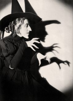 Margaret Hamilton as the 'Wicked Witch of the West' from The Wizard of Oz. Her most well known role. Children were terrified of her which saddened her greatly.