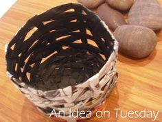 An idea on Tuesday: Newspaper Basket