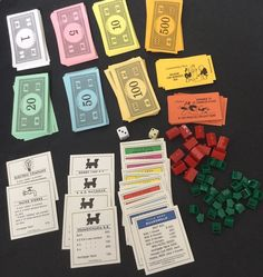 Monopoly USA Edition Replacements Money Property Utility Cards Hasbro Hotels