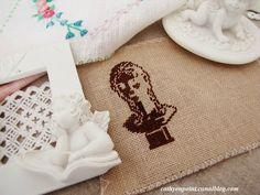 la primavera - CathyStitching Napkin Rings, Napkins, Decor, Spring, Linen Fabric, Romantic, Sons, Decoration, Towels