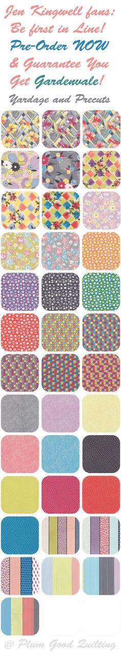 Jen Kingwell Fabric - Gardenvale