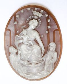 Our Lady of Mt. Carmel    19th Century French Oval Cameo