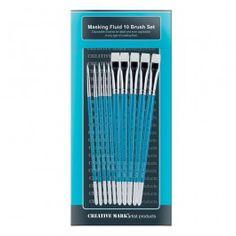 Creative Mark Masking Fluid Brush Set of 10