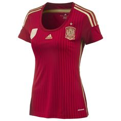 ADIDAS Spain Home Jersey Womens World Cup 2014 - 10% off for Memorial Day at Upper 90 but they don't have the track jackets or numbering available for the women's kits.