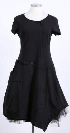 rundholz black label - Kleid Kurzarm Sweater Stretch black - Sommer 2015