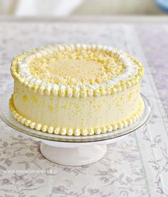 Tort cytrynowy Sweet Recipes, Cake Recipes, Different Cakes, Polish Recipes, Russian Recipes, Food Cakes, Confectionery, Cake Cookies, Vanilla Cake