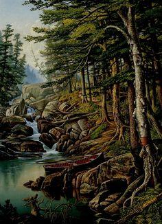 Moose River, Adirondacks (Levi Wells Prentice - 1884)