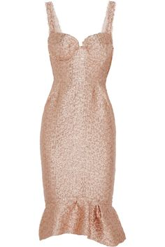 Replica Pink Alaia Dress Brocade Dresses Pink Rose