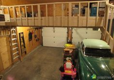 Two-floor garage - every man's dream.