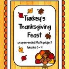 Turkey is tired of being on the menu and decides to host a Thanksgiving Feast for his woodland friends. In this project students will help Turkey purchase his food items with a limited budget and plan a menu for the six guests. Knowledge of addition, multiplication and money is needed.