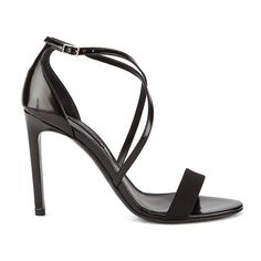 BOSS Hugo Boss Women's Tahara-A Grosgrain Barely There Heeled Sandals ($170) ❤ liked on Polyvore