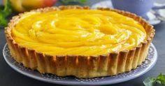 Treat yourself to this easy no-bake mango custard tart tonight Mango Desserts, Tart Recipes, Wine Recipes, Mango Tart, Mango Ice Cream, Custard Tart, Custard Pudding, Chocolate Mousse Cake, Easy Homemade Recipes