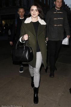 Spilling the beans:Maisie Williams, 19, confessed to constantly living in fear of acciden...