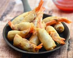 Ingredients: 2 pounds large to jumbo shrimp lemon pepper salt to taste 1 16 ounce package spring roll wrappers 1 egg white, beaten 1 quart vegetable oil for frying sweet chili sauce for dipping Cooking Instructions: Prepare the shrimp by shelling all but the tail and deveining each one. Mix the shrimp with enough lemon …