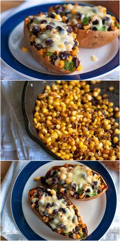 Healthy Mexican Sweet Potato Skins   Pinchofyum.com