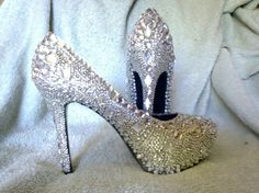 Crystal Swarovski Shoes for Wedding Prom or Special event