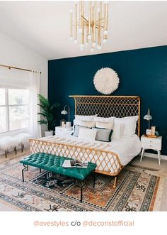 Let your pieces live up to their potential. Here, a teal accent wall provides a foundation that gives modern light fixtures and architectural furnishings alike their due—they pop against the rich hue. Nocturnal Seas by Dunn Edwards.