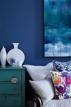 To create unity, use different shades of the same color. | 19 Foolproof Ways To Make A Small Space Feel So Much Bigger