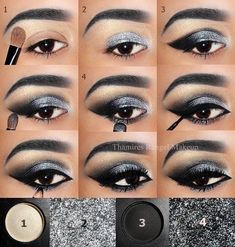 Trendy Makeup Bronze Smokey Eye Tutorial - Prom Makeup Looks Eye Makeup Steps, Makeup Eye Looks, Smokey Eye Makeup, Makeup For Brown Eyes, Eyeshadow Makeup, Matte Eyeshadow, Eyeshadow Palette, Black And Silver Eye Makeup, Younique Eyeshadow