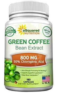 Pure Green Coffee Bean Extract - 180 Capsules - Max Strength Natural GCA Antioxidant Cleanse for Weight Loss, w/ Chlorogenic Acid per Pill, Daily Supplement, Healthy Fat Burner -- Don't get left behind, see this great product : Garcinia cambogia Low Carb Diet Plan, Healthy Diet Plans, Healthy Fats, Healthy Weight Loss, Kids Nutrition, Coffee Nutrition, Chocolate Nutrition, Organic Greens Powder, Gourmet