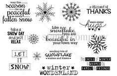 **** Unity Like a Snowflake stamps set