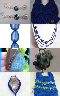 Pretty Blue Things--Pinned with TreasuryPin.com