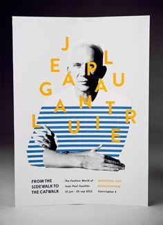 affiche de l'exposition Jean-Paul Gaultier