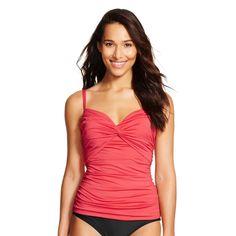 Women's Underwire Tankini Top - Coral XL - Merona, Blazing Coral