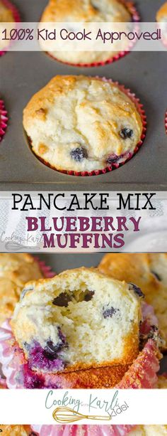 Pancake Mix Blueberry Muffins - Cooking With KarliYou can find Pancake mix uses and more on our website.Pancake Mix Blueberry Muffins - Cooking With Karli Pancake Mix Muffins Recipe, Pancake Mix Uses, Cake Mix Pancakes, Pancake Bites, Easy Blueberry Muffins, Blueberry Recipes, Blue Berry Muffins, Blueberry Breakfast, Zucchini Muffins