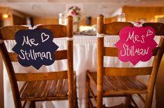 Cool idea!! #hotpink #pink #wedding